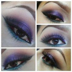 Purple and teal https://www.makeupbee.com/look.php?look_id=93039