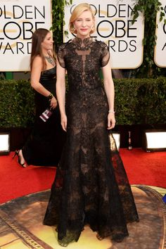 Golden Globes Red Carpet Cate Blanchett in Armani Prive. The dress was even more fabulous on camera. Armani Prive, Glamour Hollywoodien, Hollywood Glamour, Hollywood Star, Hollywood Fashion, Cate Blanchett Golden Globes, Beautiful Dresses, Nice Dresses, Dresses 2014