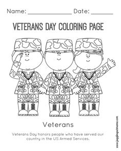 Veterans Day Coloring Pages | adult coloring pages | Pinterest ...