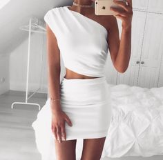 Grecia White Two-Piece Set