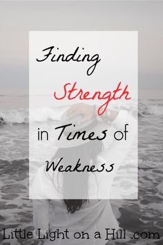 When we are at our weakest moment, Christ's strength lifts us up. His strength and grace are all you need to get you through some of your hardest days.