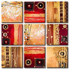 Foto en lienzo Púrpura y oro será una gran decoración de la pared. Ve colección de cuadros para pared Modernos - decoraciones originales y baratas en artgeist.