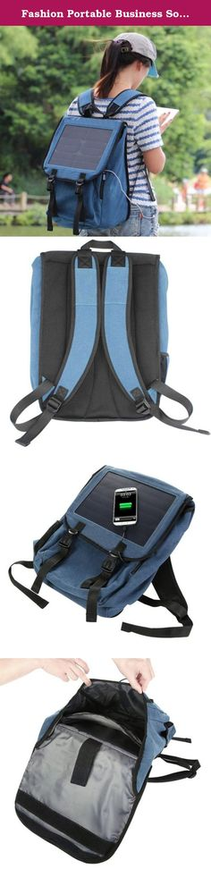 Fashion Portable Business Solar Charger Backpack Knapsack with 10w Solar Panel and Standard USB Data,outdoor Backpack,hiking and Camping Equipment,adventure Equipment Accessories (blue). Item: Business Solar Charger Backpack; Material: Canvas; Capacity: 35 L; Product Size: Backpack Size: 470*360*200 mm; Solar Panel Size: 200*260 mm; Day at the beach, gone camping, perhaps an all day hike, whatever the adventure, you'll never be left with a drained battery with our lightweight...