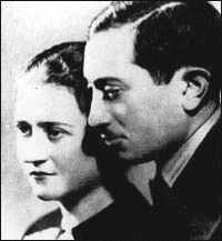 Simon Wiesenthal and his wife. They lost 89 members in their family in the Holocaust. They eventually reunited in 1945 where they lived a long life. Cyla died in 2003 and Simon.  passed in 2005. He became the famous Nazi Hunter, helping to capture Adolph Eichmann.