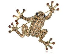 Naveen Inpsired Leaping Happy Frog Prince Crystal Rhinestones Costume Brooch Pin Alilang. $7.99