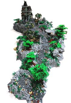 Lego Design, Legos, Halloween Lego, Casa Lego, Lego Structures, Lego Village, Lego Table Ikea, Lego Sculptures, Lego Ninjago