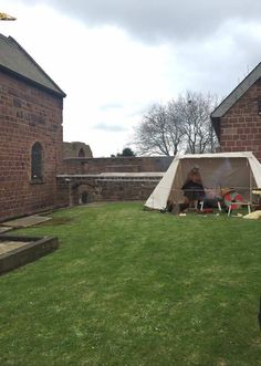 OUr new events set-up allows us to bring an authentic Viking experience to you! OUr Saxon 'Getelede' tent is based on contemporary manuscript depictions of early medieval tents. What Is Life About, Tents, Medieval, Bring It On, Contemporary, Mansions, House Styles, Travel, Mansion Houses
