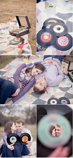 Fun engagement shoot for the music obsessed.