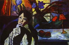 Gabriele Münter, Meditation, 1917, oil on canvas (Stadtische Galerie im Lenbachhaus, Munich)