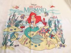 Vintage Disney The Little Mermaid Sheets  I had the whole bed set.