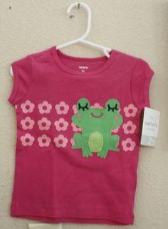 Carter's T-shirt,2T,100%Cotton,Everyday,Pink,Novelty/Cartoon,Spring,Short Sleeve #Carters #Everyday