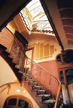 art nouveau staircase ~ the horta museum, brussels, belgium