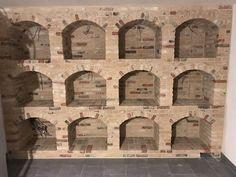 Caves, Wine Cellar Basement, Home Wine Cellars, Bar A Vin, Basement Storage, Brickwork, Wine Storage, Arches, Backyard