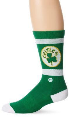 Stance Socks Men's Boston Celtics NBA Hardwood Classic Collection Socks L Green