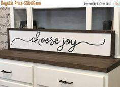 MOTHERS DAY SALE Choose Joy Wood Framed Sign