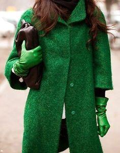 Groen Wool Long Coat