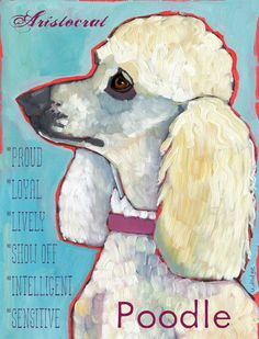 Poodle No. 2  Art Print 8.5x11 by ursuladodge on Etsy, $25.00