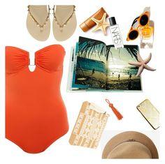 """Beach safari"" by sanddollardubai ❤ liked on Polyvore featuring Melissa Odabash, Havaianas, BY SOPHIE and NARS Cosmetics"
