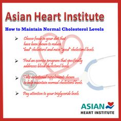 How to Maintain Normal #Cholesterol Levels Tis From #Asian #Heart #Institute