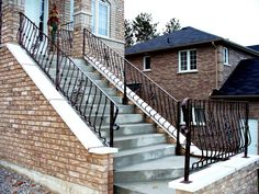 Wrought Iron Outdoor Hand Railings | Wrought Iron From Julian: Wrought Iron Outdoor Railings