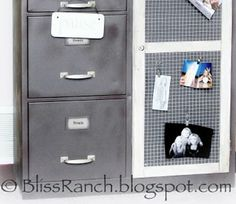 from Bliss Ranch $5 storage cabinet makeover