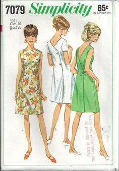 1960's OnePiece Back Wrap Dress Pattern by DawnsDesignBoutique, $14.99
