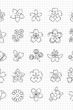 Small Flower Drawings, Simple Flower Drawing, Flower Pattern Drawing, Simple Flower Design, Flower Drawing Tutorials, Floral Drawing, Easy Drawing Patterns, Flower Design Drawing, Easy Doodles Drawings
