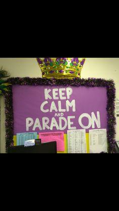 Mardi gras bulletin board