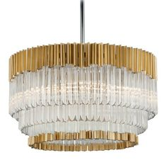 Corbett Lighting Charisma Gold Leaf Pendant Light | 220-48 | Destination Lighting