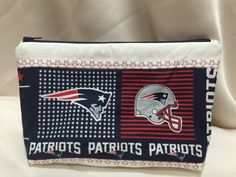 New England Patriots Cosmetic/Make Up/Travel Bag by MommyMaryCrafts on Etsy