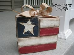flag blocks / Simply kierste - with all of the crafting.designing.painting I've done, why didn't I think of this???