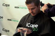 Press Play ️ See what this person had to say about iCape 2.0! The new #haircutting cape that lets clients text, email and surf while getting their #hair styled.