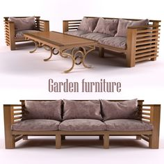 3d model garden furniture vr ar low poly max obj mtl cgtrader
