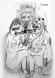 """SMOKE"" Drawing by H.-J. BERGMANN"