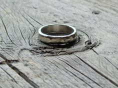 mens rustic artisan sterling silver wedding band by TheSpiralRiver, $119.00