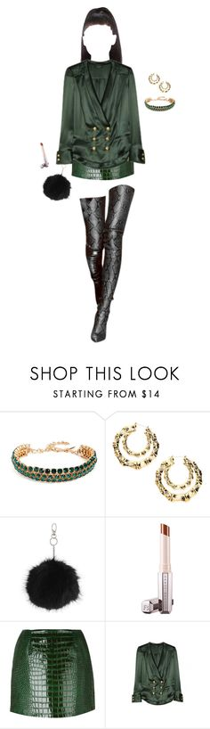 """that night in madrid..."" by kaiqueneves ❤ liked on Polyvore featuring Oscar de la Renta, Topshop, FleaMadonna and Balmain"