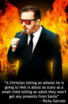 Ricky Gervais on Hell and Santa Claus
