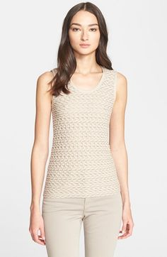 Armani Collezioni Textured Jersey Knit Shell available at #Nordstrom