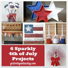 6 Sparkly 4th of July Projects #4thofjuly #patriotic #redwhiteandblue #hometalk