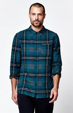 Reach for a basic look from Modern Amusement as fall peaks. The Summit Flannel Shirt features a fuzzy feel with a traditional plaid print for a quality style.   	Allover multi color plaid flannel shirt 	Chest pocket 	Medium spread collar 	Button front 	Long sleeves 	Machine washable 	100% cotton