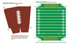Free Football Party Printables + Homemade Stadium Snack Recipes #HomeBowlHeroContest