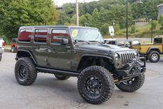 Custom 2015 Jeep Wrangler Unlimited Rubicon Tank - Poison Spyder Crusher Fenders and Brawler Front Bumper Jeep Rubicon Unlimited, 2015 Jeep Wrangler Rubicon, Wrangler Jl, Green Jeep, Black Jeep, Silverado Leveling Kit, Jeep Wrangler Interior, Jeep Mods, Trucks And Girls