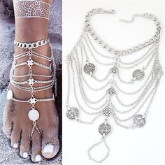 Coin or Shell Barefoot Sandals   #hippiestyle #zen #yogalife #jewelry #fashion #hippie #gyspsysoulsunited #boho #bohochic #accessories