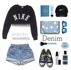 """Spring &Denim ..."" by gul07 ❤ liked on Polyvore featuring NIKE, Converse, STELLA McCARTNEY, Rifle Paper Co, Givenchy, Nike Golf, Grey Ant, Laura Mercier, Demeter Fragrance Library and Whiteley"