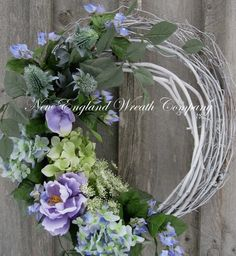Spring Wreath, Summer Wreath,by NewEnglandWreath
