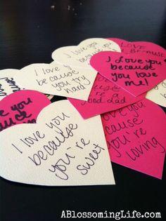 DIY Valentines Love Notes