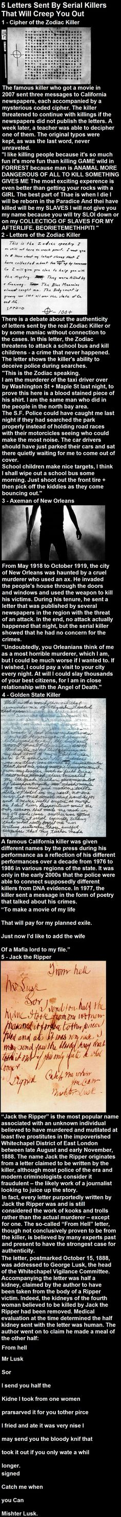 5 Letters Sent by Serial Killers Who Will Creep You Out