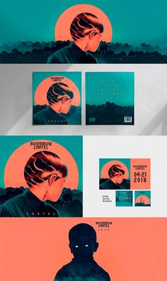 """Illustration for the L.A based EDM duo """"Boombox Cartel"""". """"Cartel"""" was the first band's single in years and they wanted to create a special edition vynil to celebrate this. I worked on the art direction and illustration for the album and other digital rel… Layout Design, Design De Configuration, Graphisches Design, Design Blog, Icon Design, Design Ideas, Nails Design, Design Model, Art Designs"""