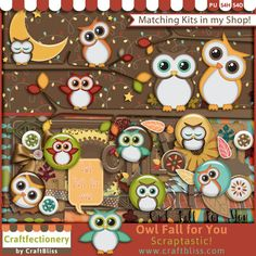 Owl Fall for You by CraftBliss. Visit www.craftbliss.com for freebies and crafty fun. #craftbliss
