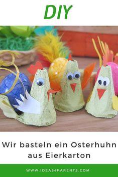 Ich wollt ich wär ein Huhn! Eierbecher aus Pappe #diy #ostern #basteln #ideas4parents
